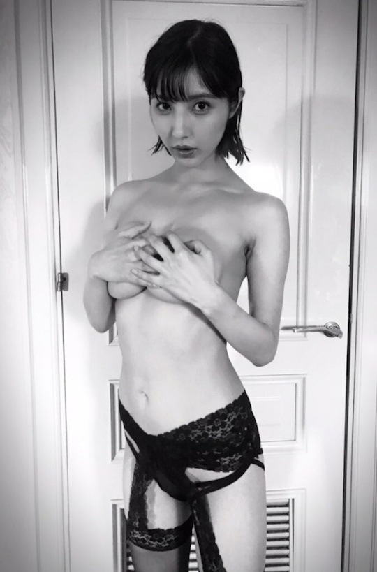 bambi watanabe busty japanese gravure idol model naked BAMBI hair nude photo book