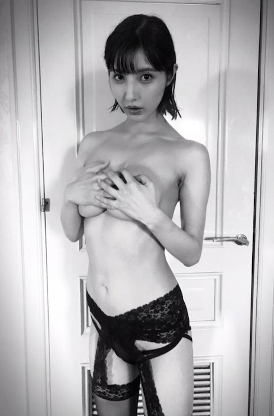bambi watanabe busty japanese gravure idol model naked BAMBI hair nude photo book