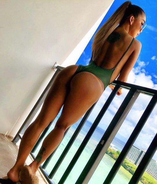 natsu koge amazing butt ass japan model gogo dancer fitness sexy