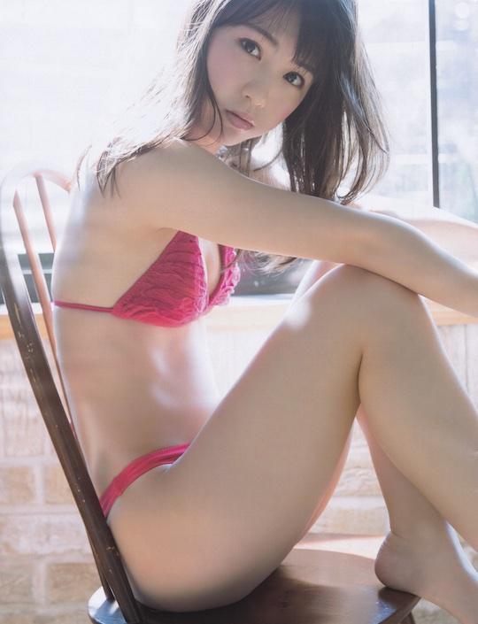 haruka kumazaki ske48 idol upskirt panchira