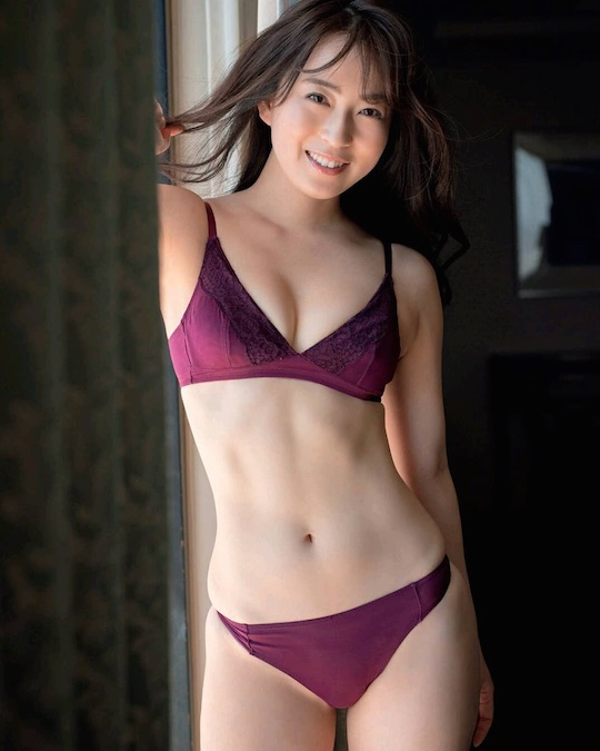 shiori usui sexy announcer japan lingerie shoot gravure hot