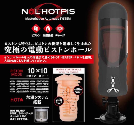 nol hotpis piston sex machine heated warm
