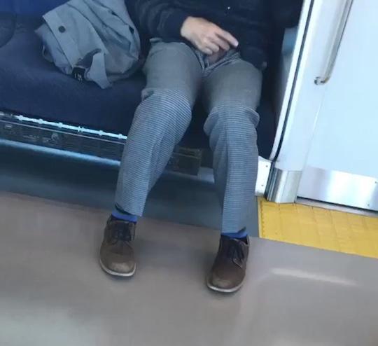 japan masturbating man jerking off train public schoolgirls
