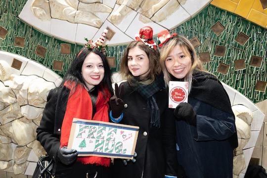 christmas santa cosplay costume japanese tokyo shibuya 2018 girls