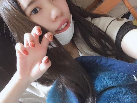 japanese amateur bakunyu office lady girl nude selfie twitter goddess