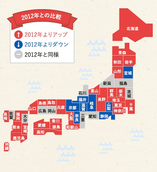 japanese bust cup average breast size map