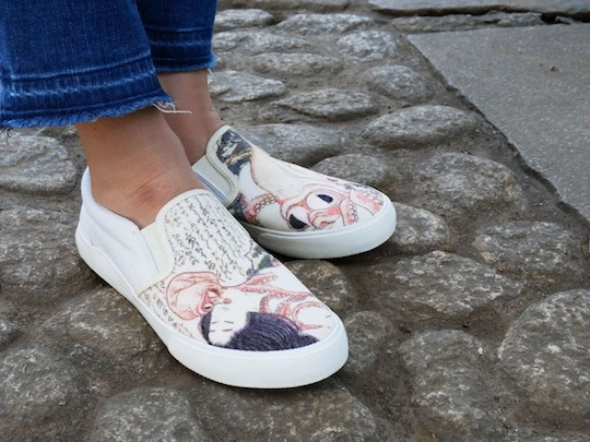 shunga hokusai octopus fishermans wife dream tentacle sex sneakers shoes