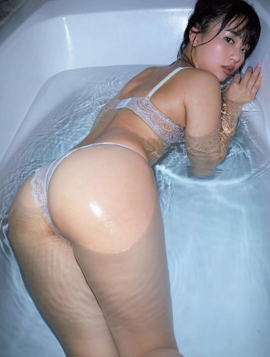 natsumi hirajima bath hot body nude sexy akb48 japanese idol model gravure