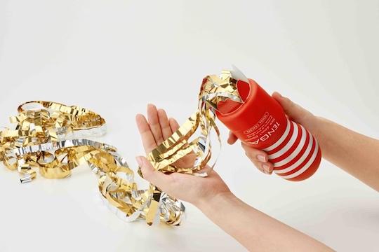 tenga christmas cracker popper streamers onacup cup masturbation toy