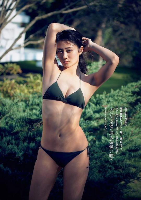 kazusa okuyama japanese model gravure amazing body
