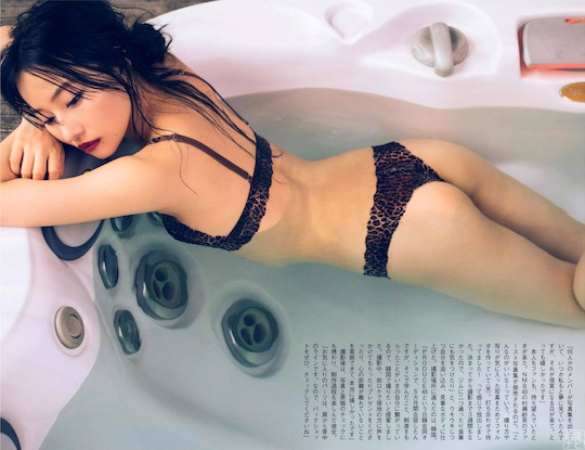 sae murase nmbk48 idol sa ga ii photobook debut sexy lingerie picture