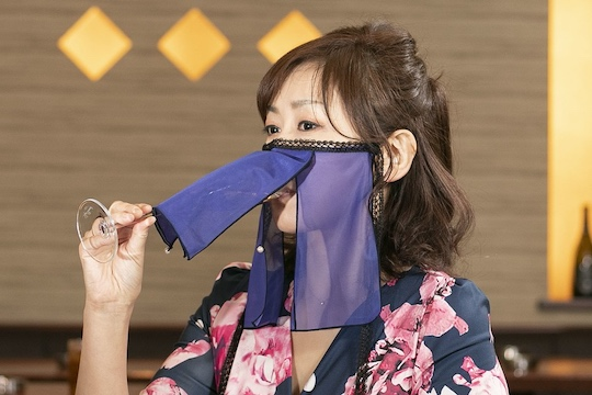 japan tokyo kabukicho hostess face veil mask coronavirus infection stop club