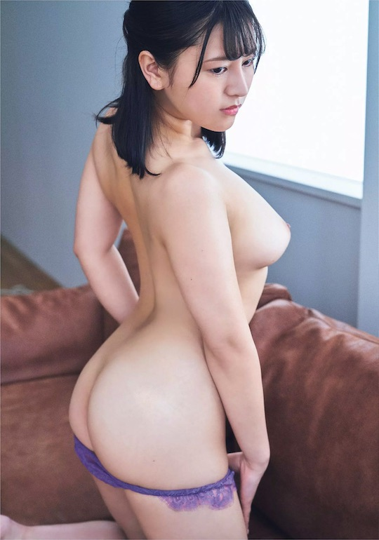 sara kamiki gravure debut big breasts nude sexy body japanese model duck bill face ahiruguchi