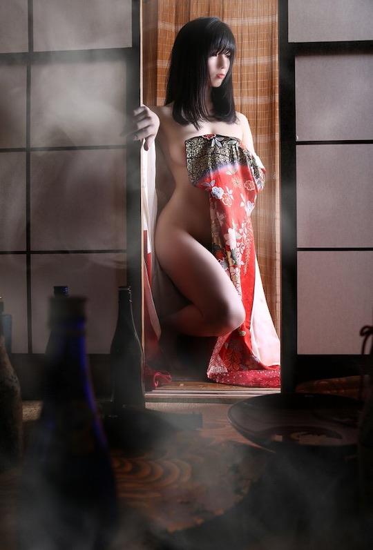 love hotel japan photo erotic nude naked sexy model shoot robe vintage tokyo showa taisho vintage retro