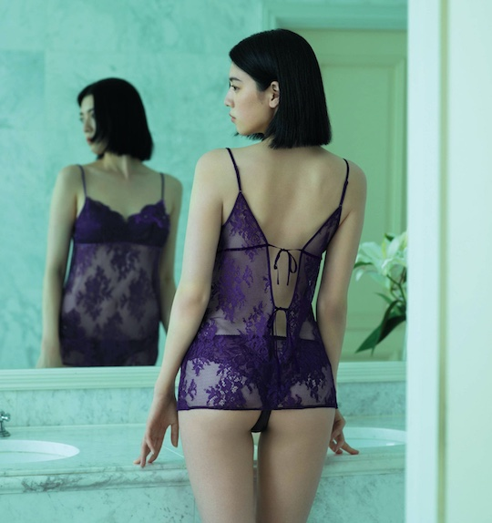 ayaka miyoshi japanese model actress anan magazine sexy photo shoot semi-nude