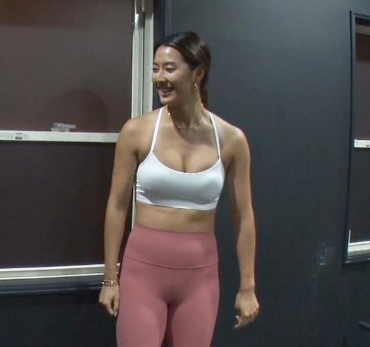 sumire cameltoe paipan body tight clothing sporty hot sexy japanese model actress